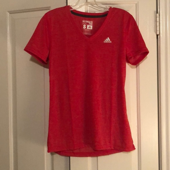red adidas shirt womens